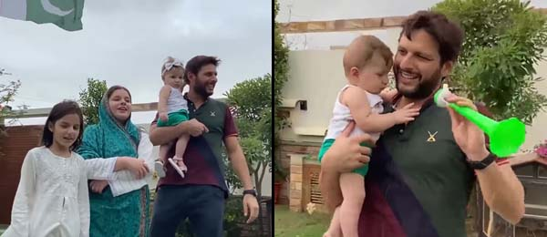 Shahid Afridi celebrates Pakistan Independence Day