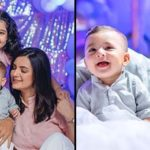 Faysal Qureshi with his family on a phootshoot