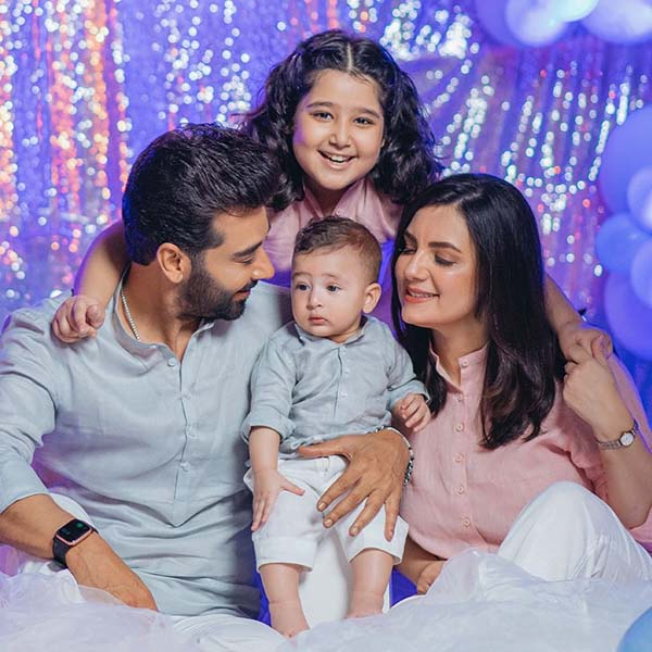 Faysal Qureshi with his family