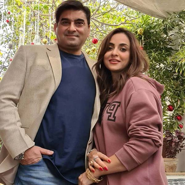 Nadia Khan with her husband after their marriage