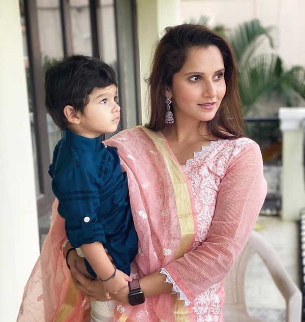 Sania Mirza with her son Azaan