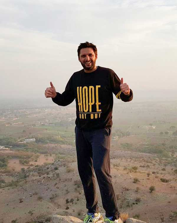 Shahid Afridi Hope not out